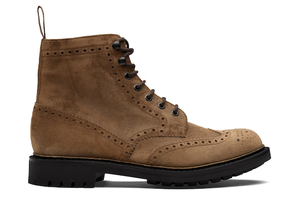 Waxed Suede Lace-Up Boot Brogue