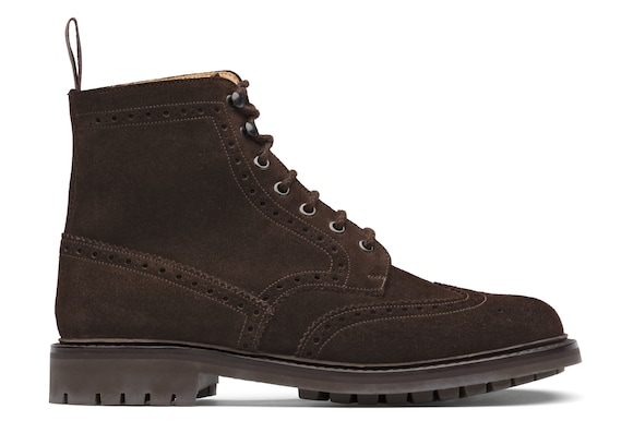 Church's  Suede Lace-Up Boot Brogue