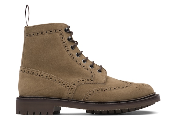 Suede Lace-Up Boot Brogue