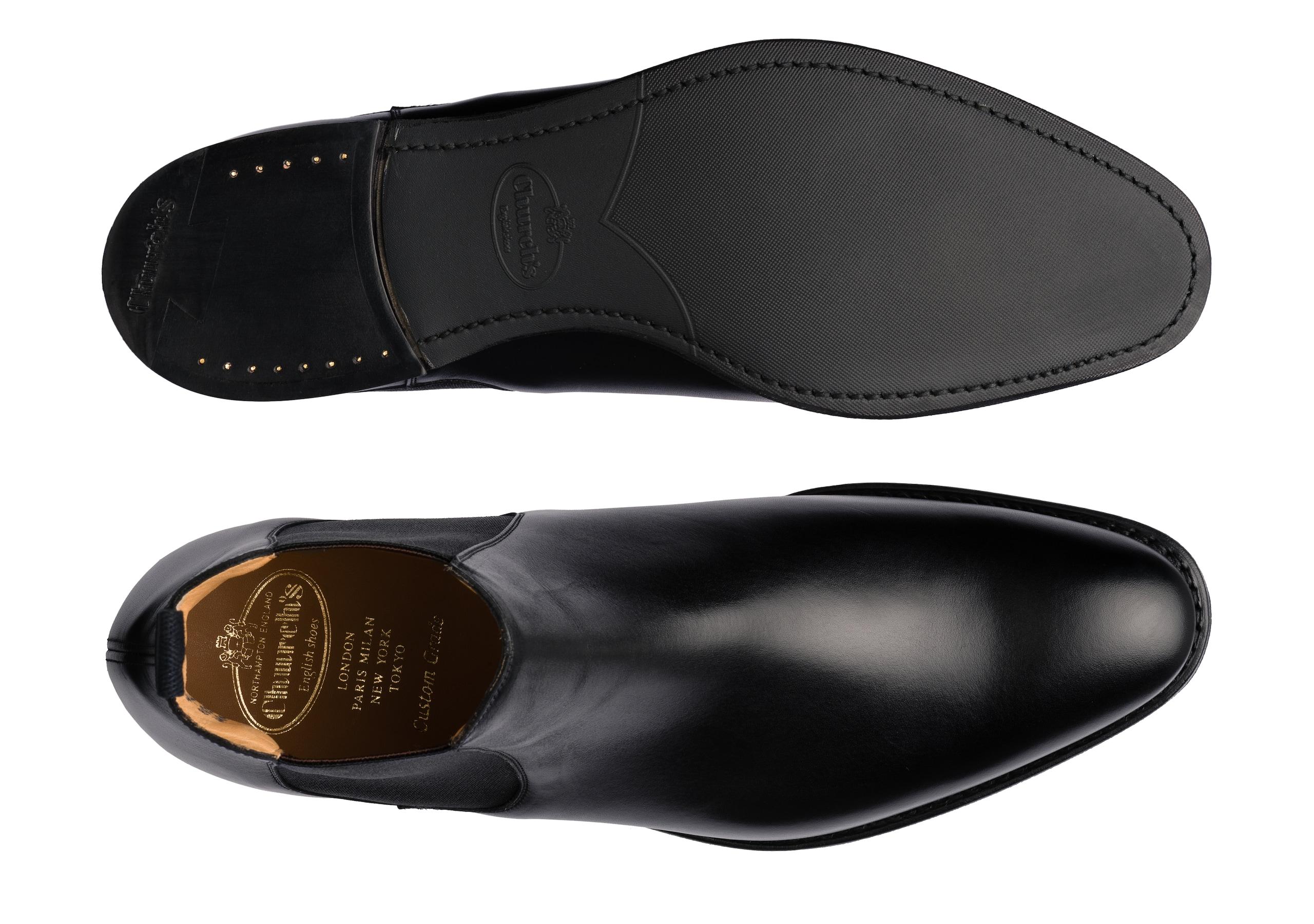 Houston r Church's Calf Leather Chelsea Boot Black