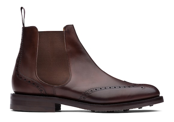 Church's true Nevada Leather Brogue Chelsea Boot Ebony