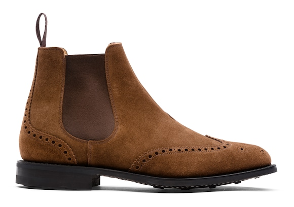 Church's true Botte Chelsea « Full-Brogue » en Veau Velours Sigar