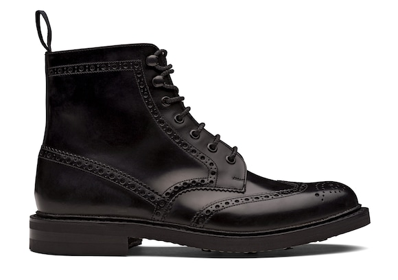 Polished Binder Lace-Up Boot Brogue
