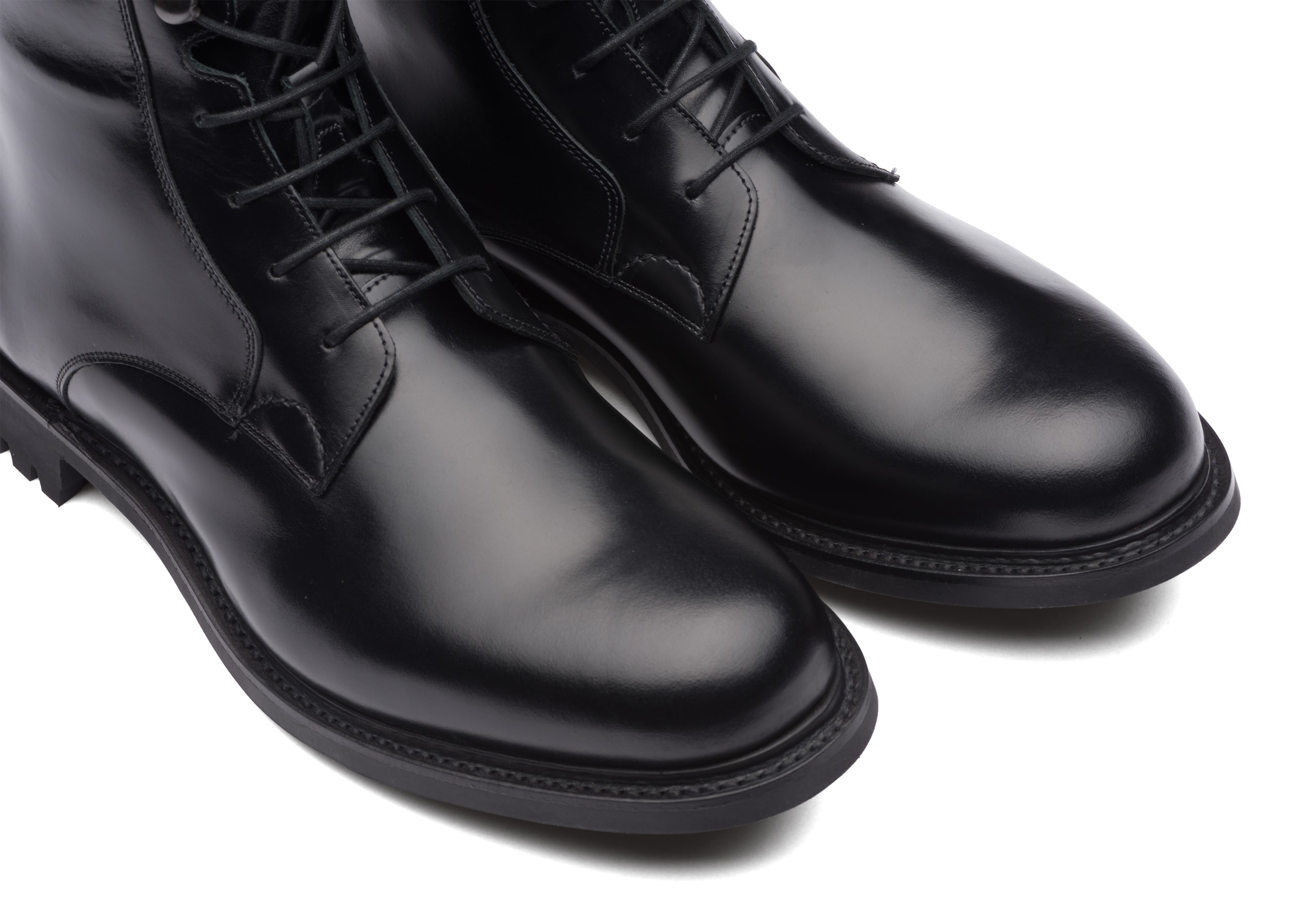 Wick fur Church's Calf Leather Lace-Up Boot Black