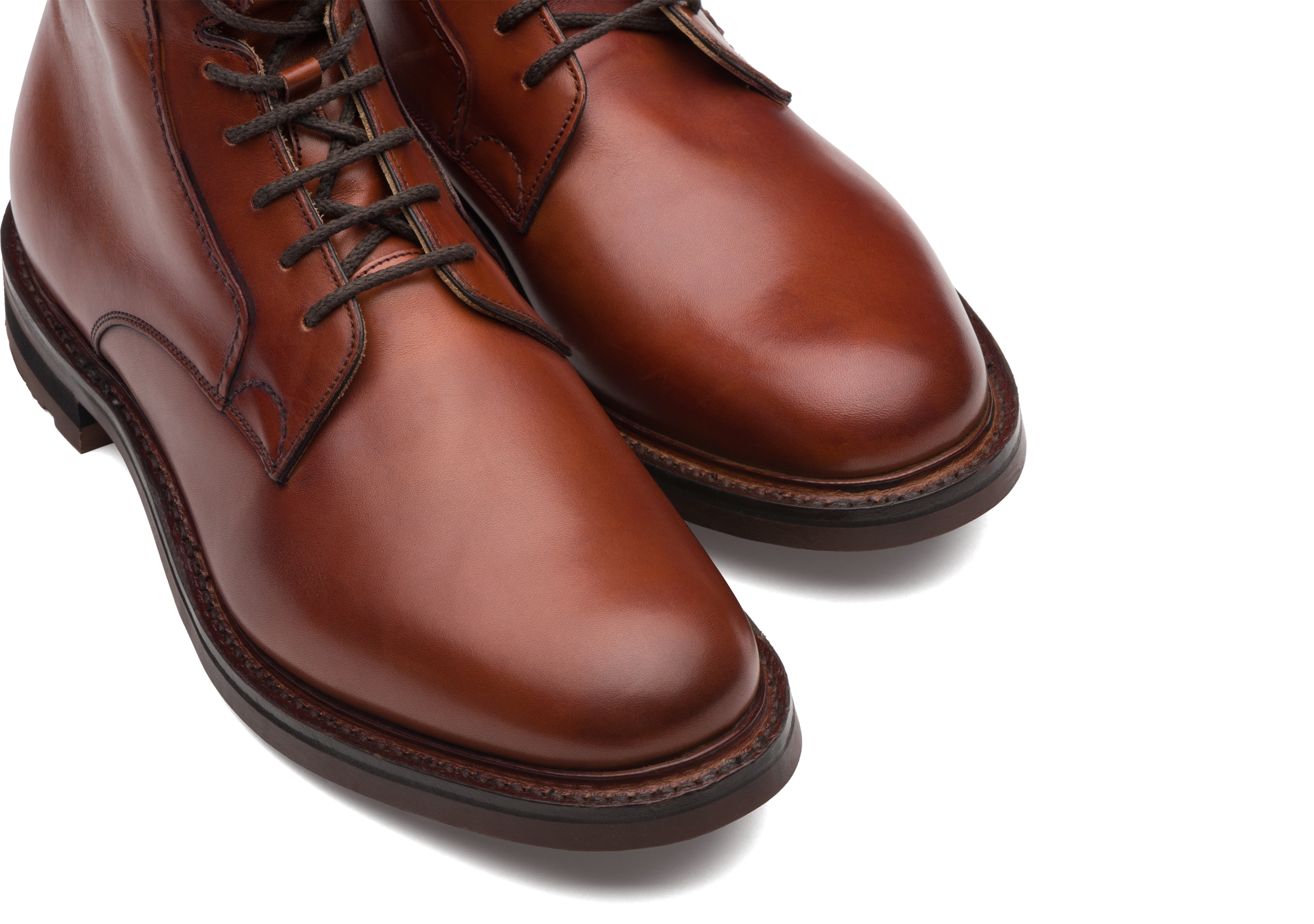 Wootton Church's Calf Leather Lace-Up Boot Brown