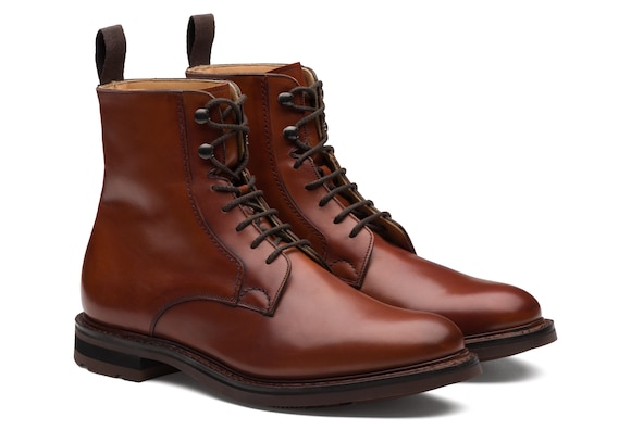 Church's Wootton Calf Leather Lace-Up Boot Brandy