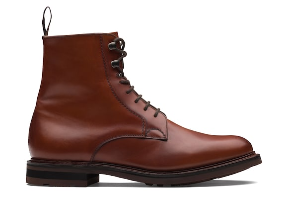 Church's true Calf Leather Lace-Up Boot Brandy