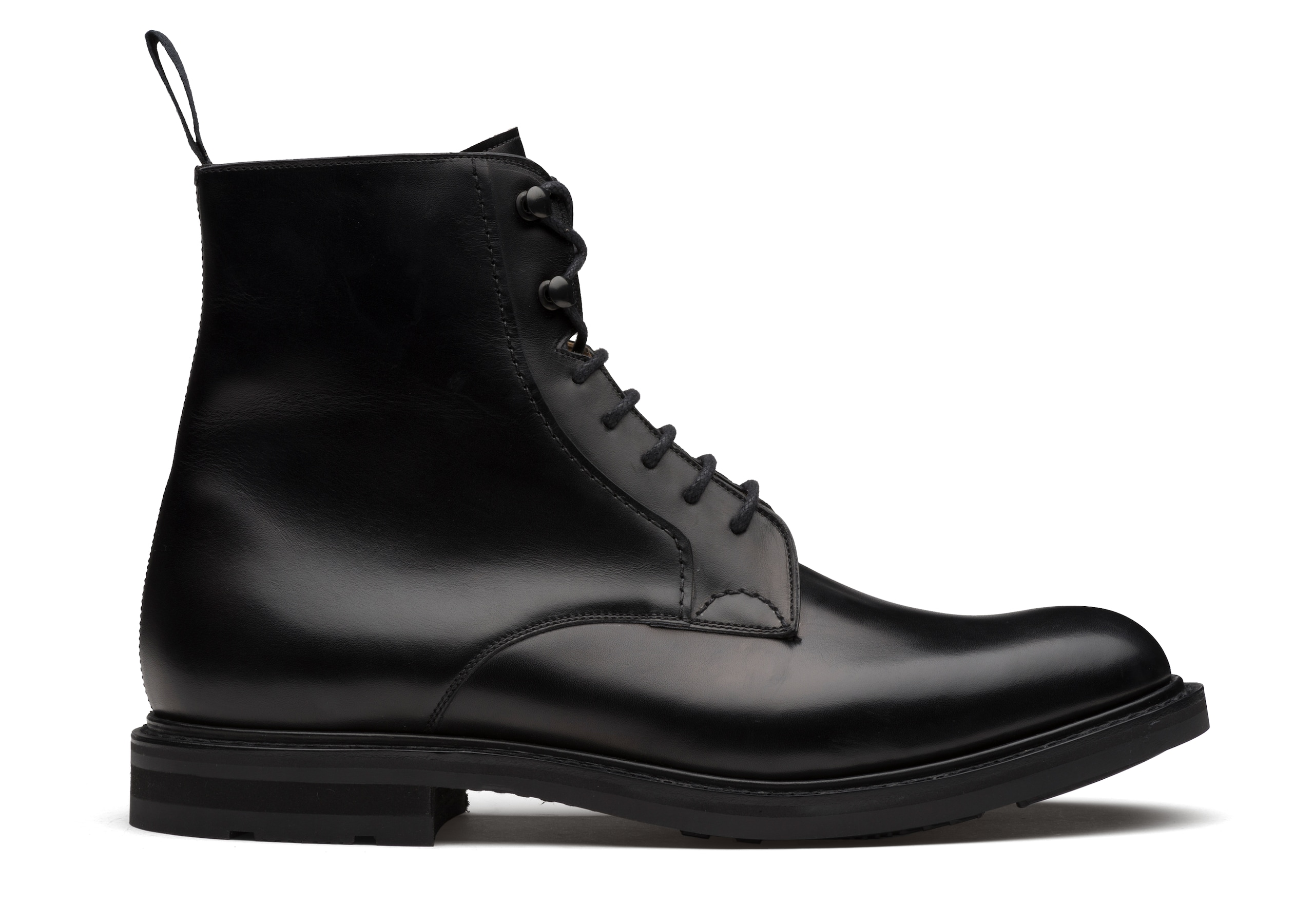 Wootton Church's Calf Leather Lace-Up Boot Black