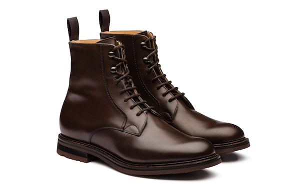 Church's Wootton Nevada Leather Lace-Up Boot Ebony