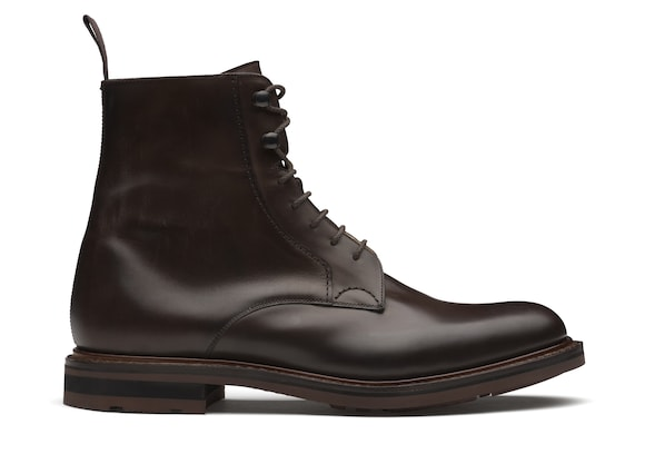 Church's true Nevada Leather Lace-Up Boot Ebony