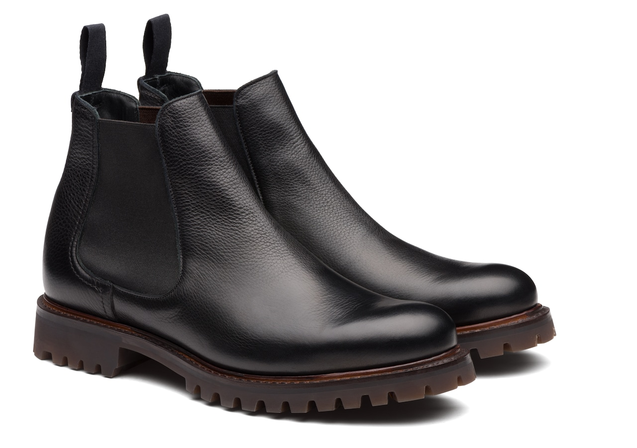 Cornwood Church's Soft Grain Leather Chelsea Boot Black