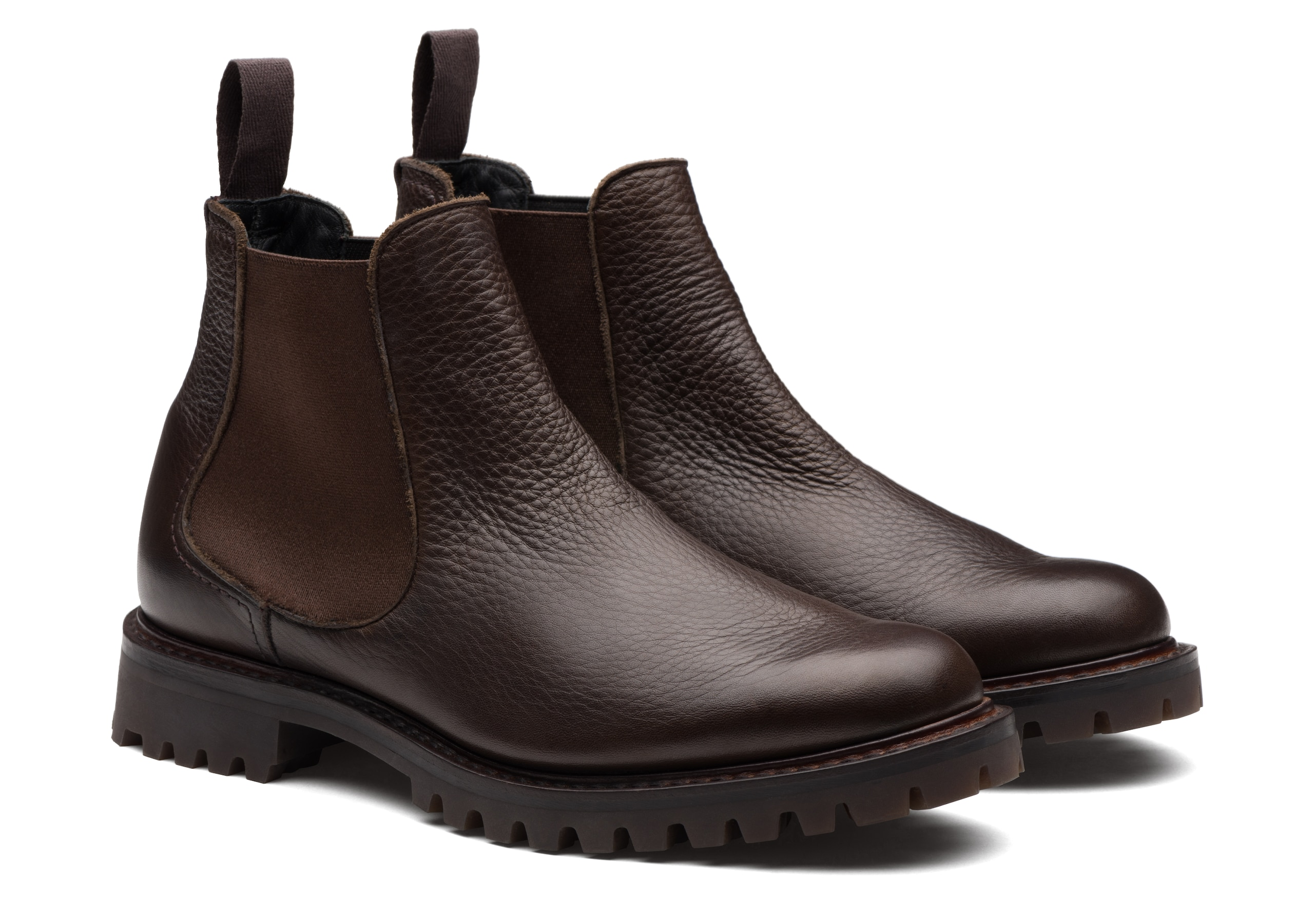 Cornwood Church's Soft Grain Leather Chelsea Boot Brown