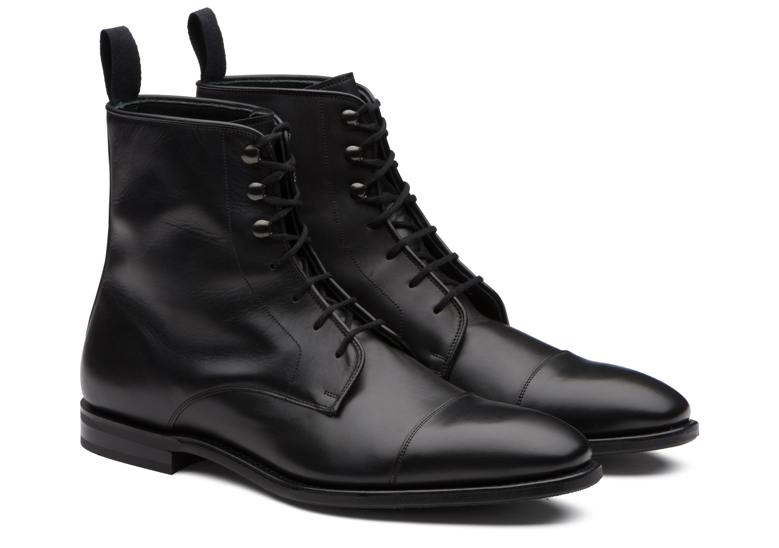 Easenhall Church's Calf Leather Lace-Up Derby Boot Black