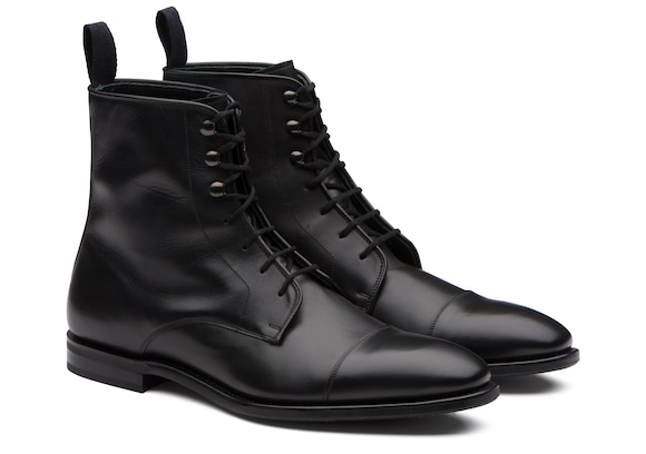 Church's true Calf Leather Lace-Up Derby Boot Black
