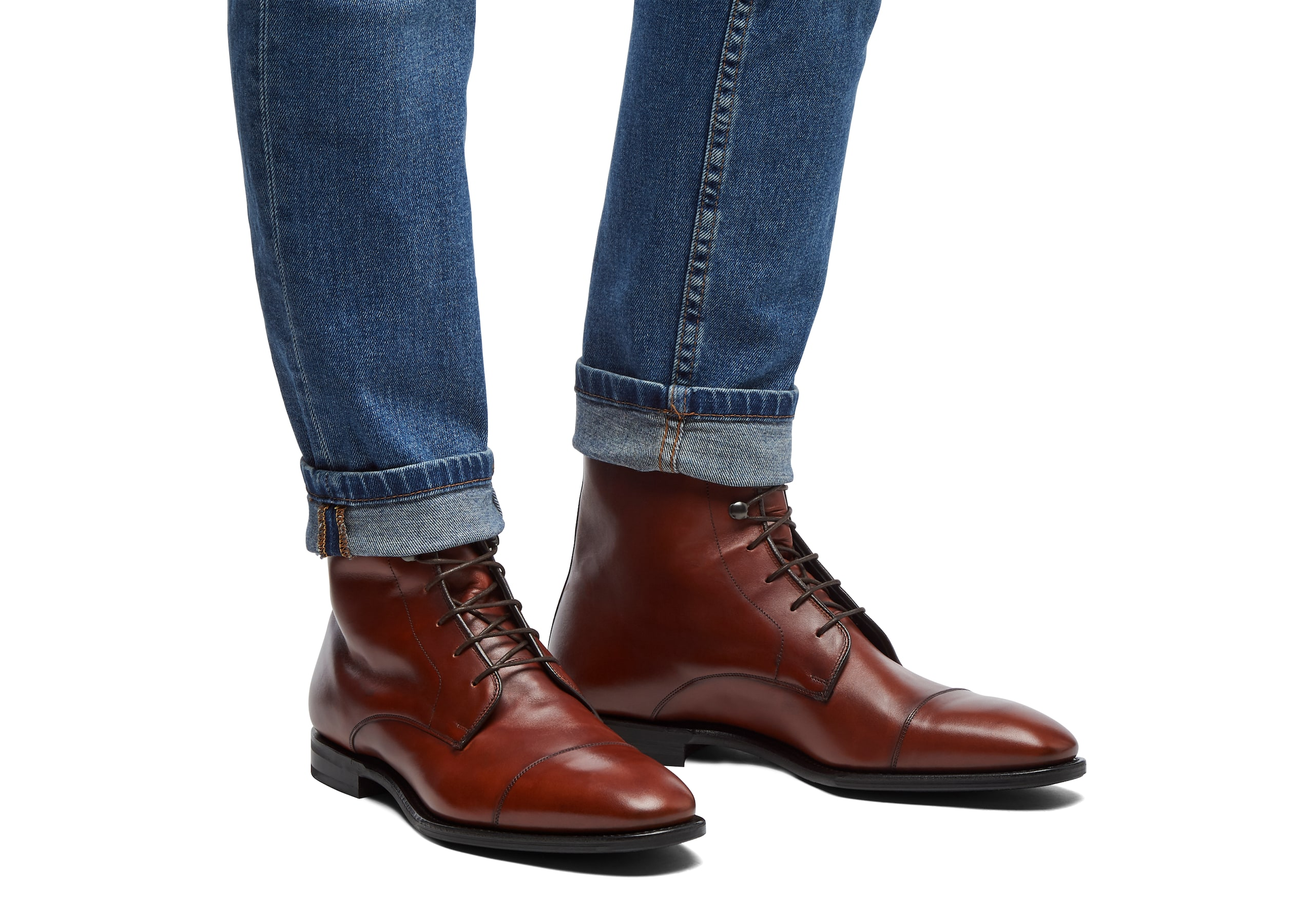 Easenhall Church's Calf Leather Lace-Up Derby Boot Brown