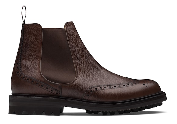 Church's  Bottines Chelsea en cuir grainé Highland Marron