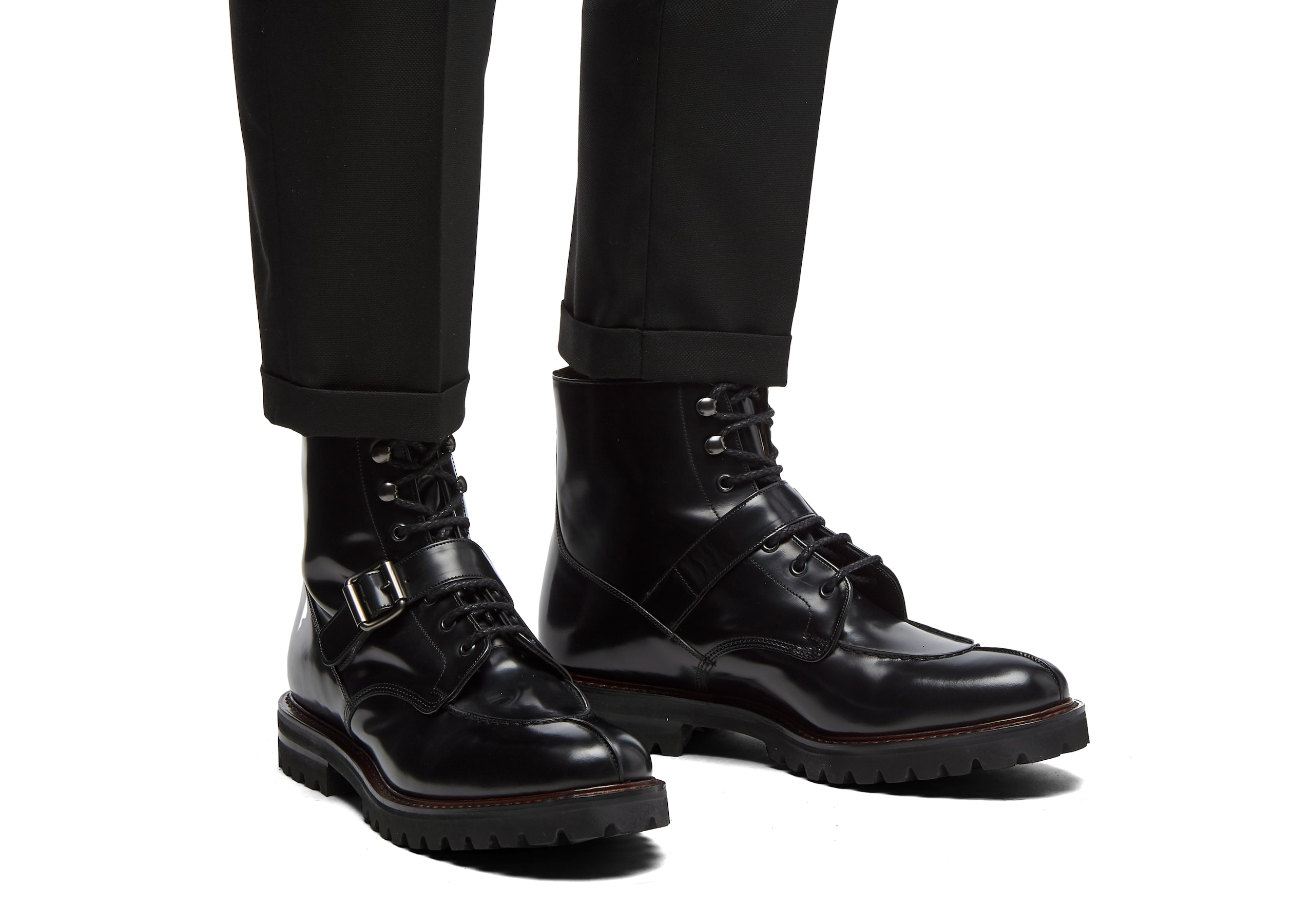 Edford Church's Polished Binder Lace-Up Derby Boot Black