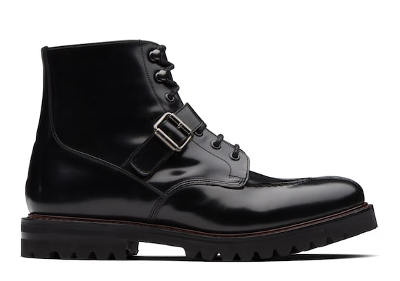 Church's Edford Polished Binder Lace-Up Derby Boot Black