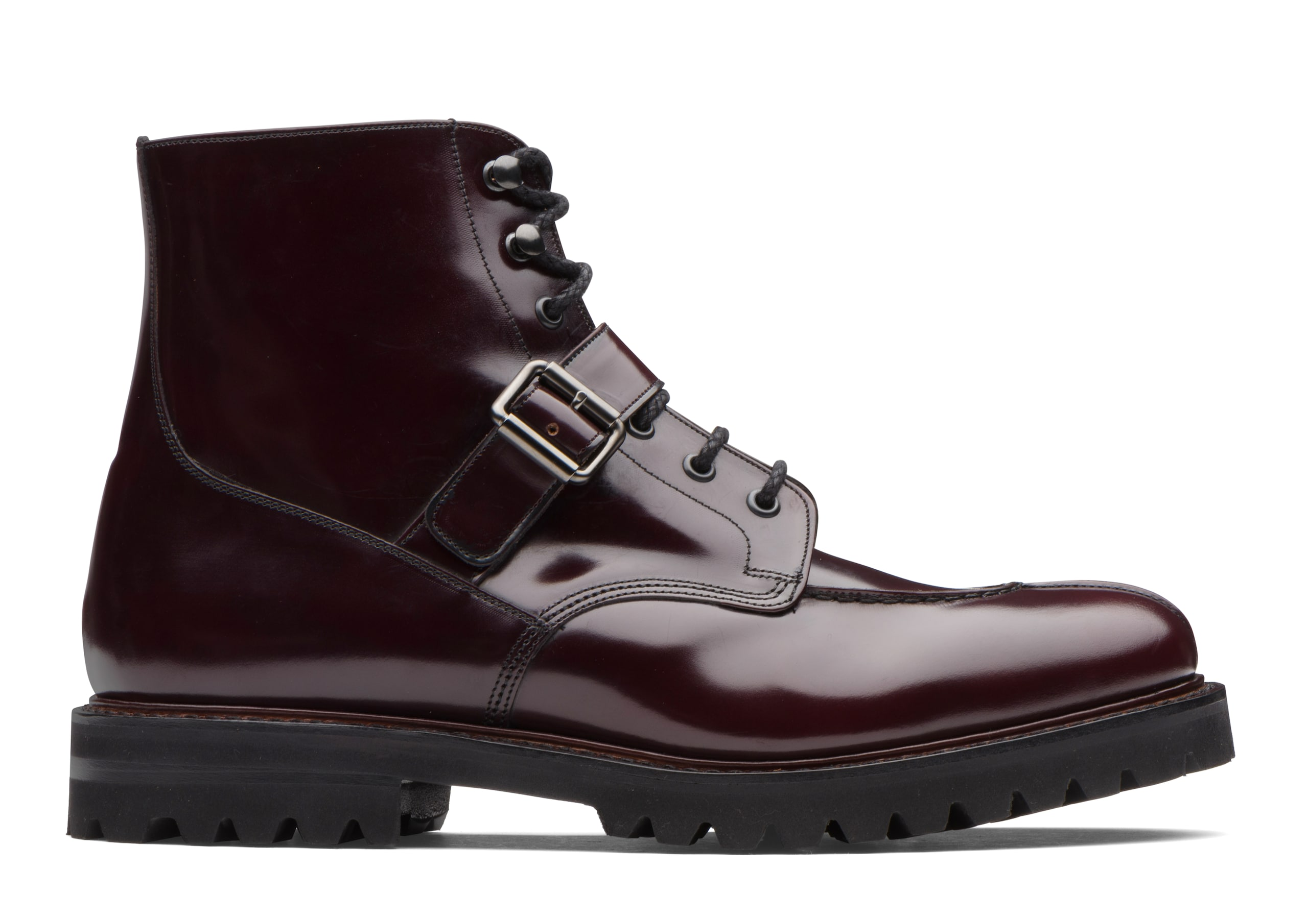 Edford Church's Polished Binder Lace-Up Derby Boot Burgundy