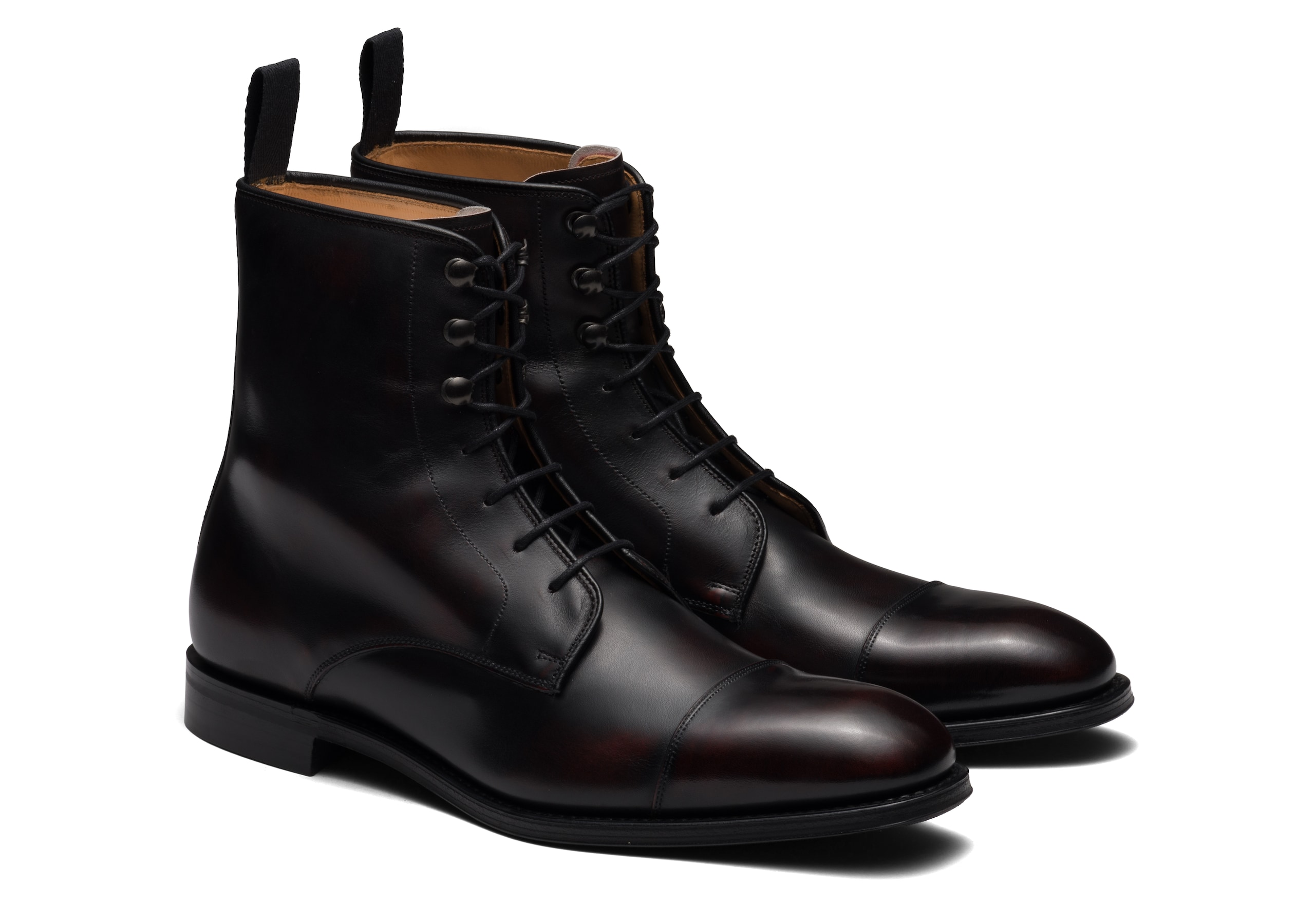 Edworth ^ r Church's Superior Calf Lace Up Boot Burgundy