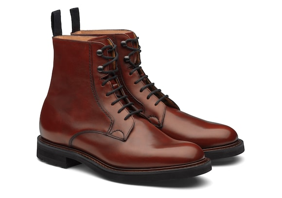 Church's Wootton lw Calf Leather Lace-Up Boot Brandy