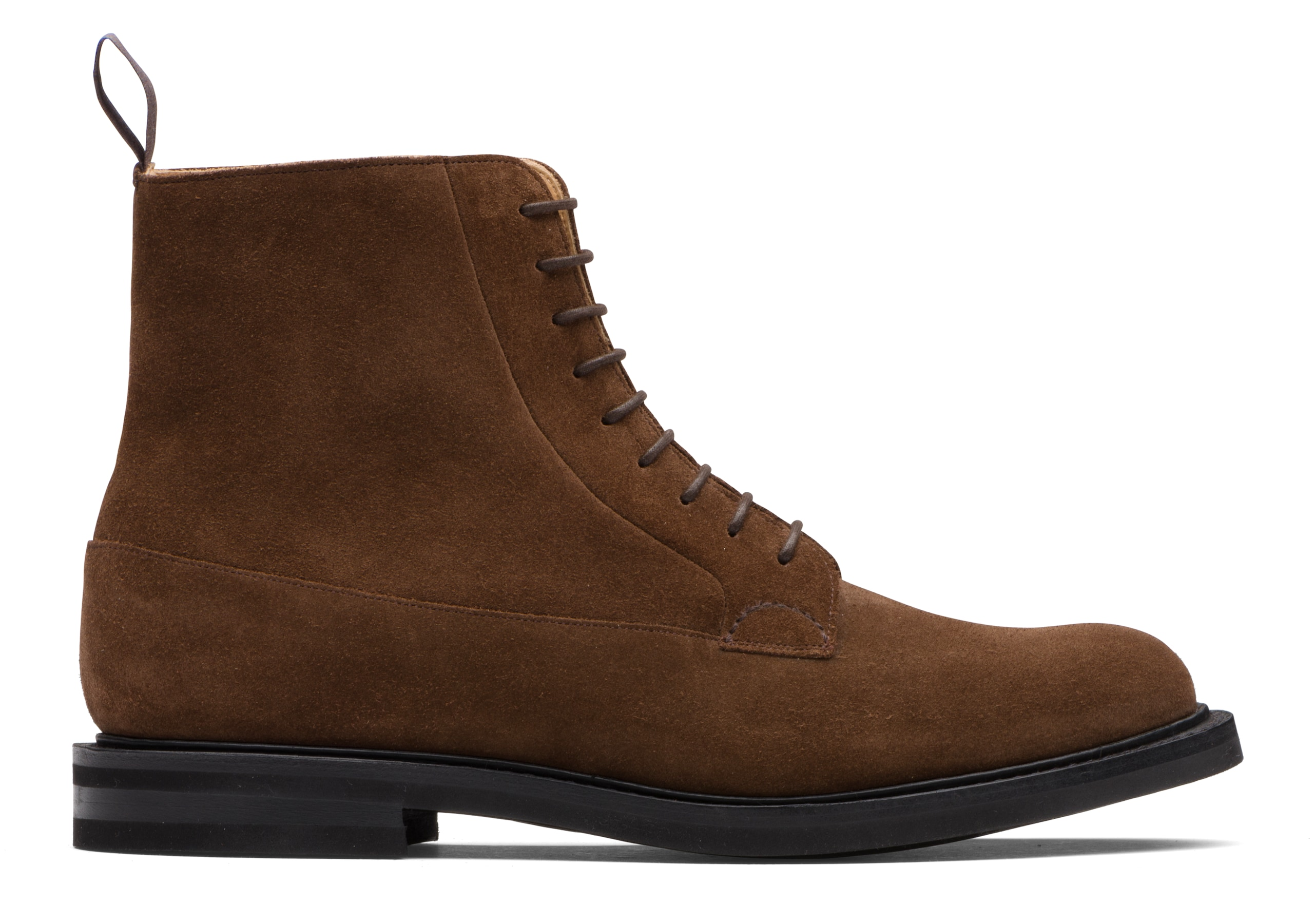 Eastville lw Church's Suede Lace-Up Derby Boot Brown