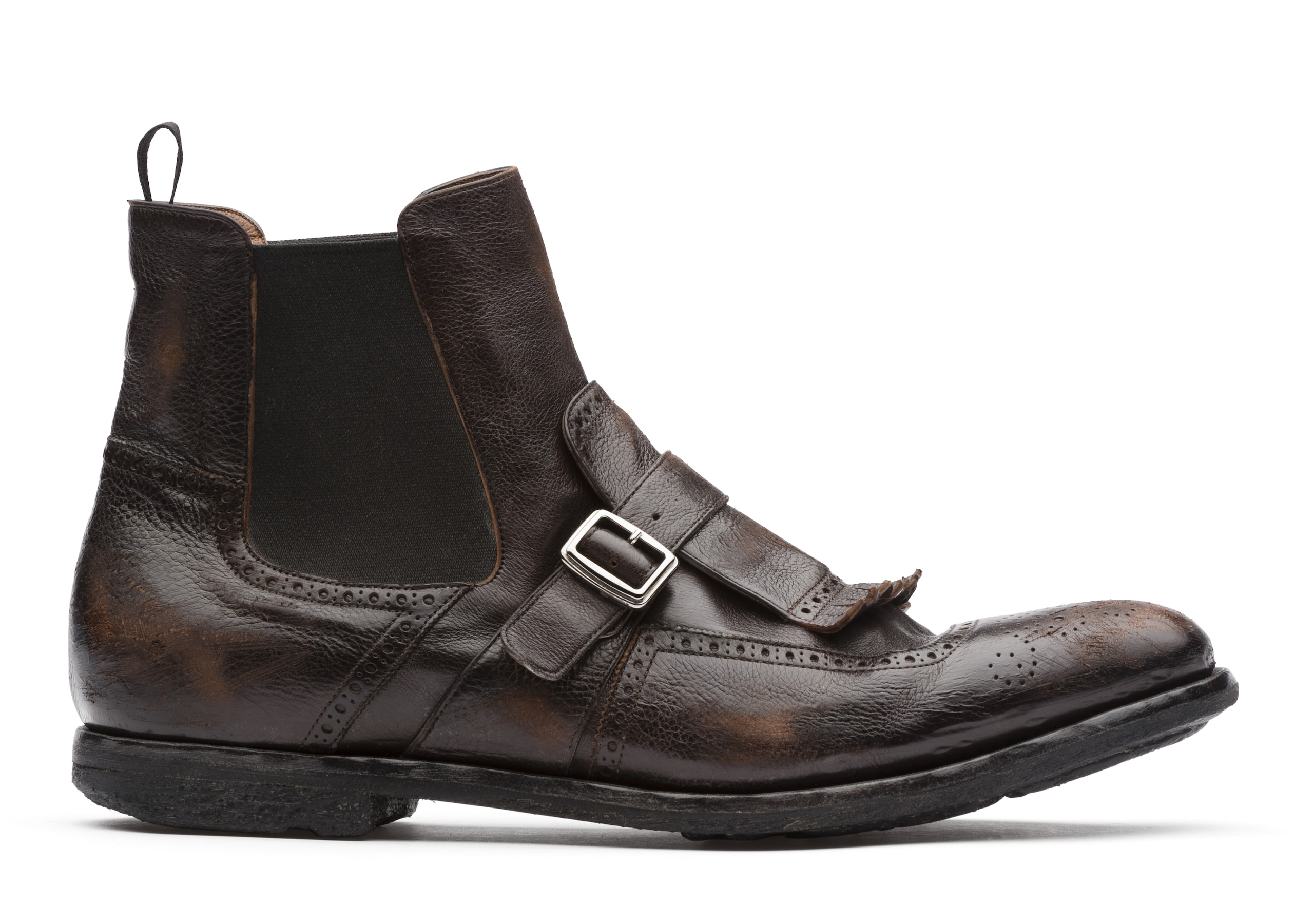 Shanghai 6 Church's Glacè Calf Leather Chelsea Boot Brown