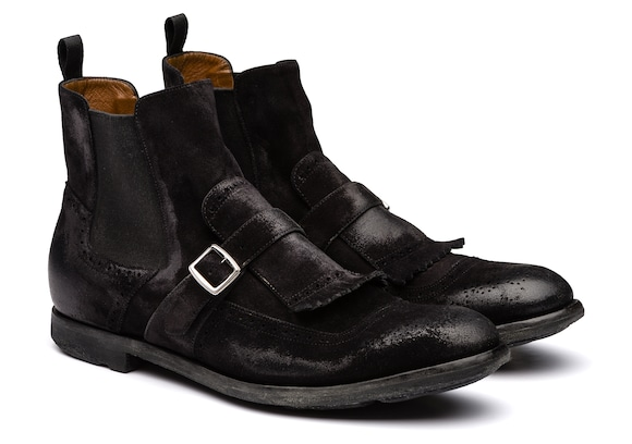 Church's  Botte Chelsea en Veau Velours Vintage Noir