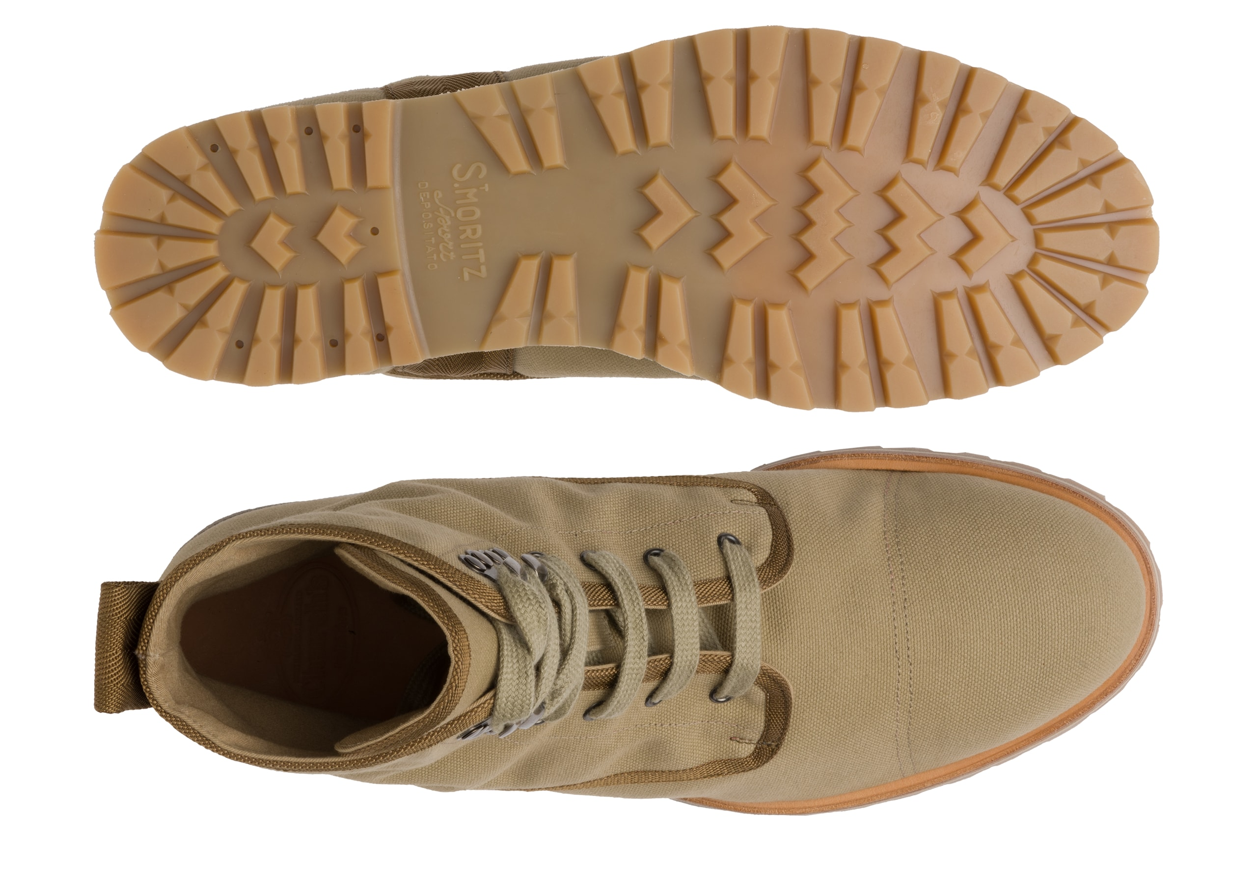 Docklow Church's Canvas Lace-up Boot Neutral