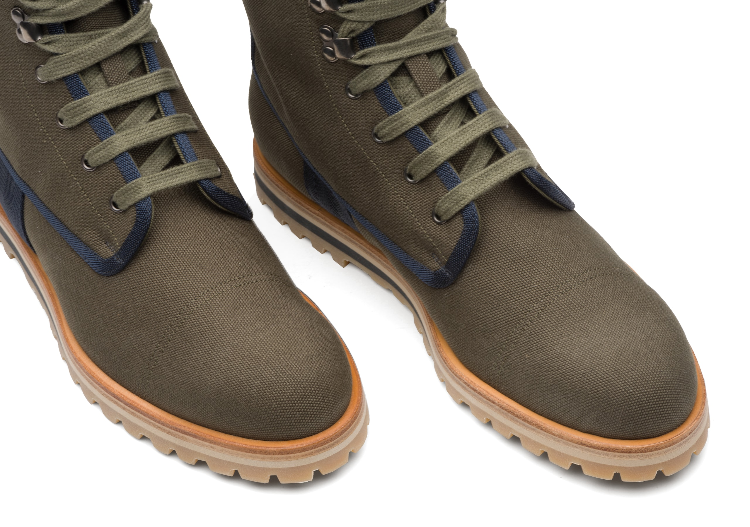 Docklow Church's Canvas Lace-up Boot Green