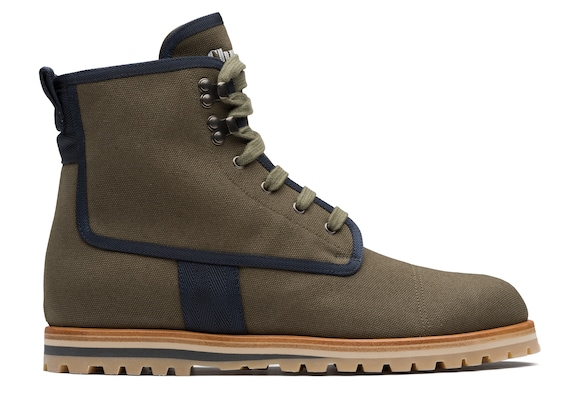 Church's Docklow Canvas Lace-up Boot Military