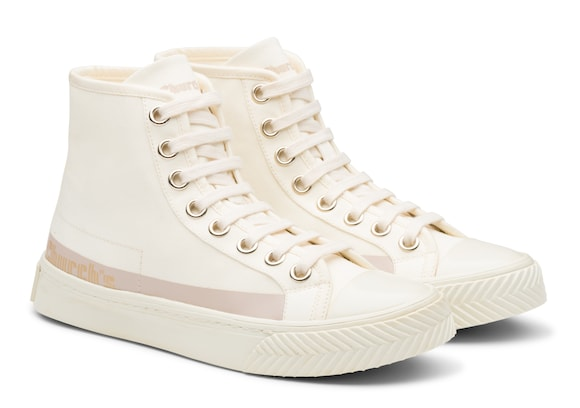 Church's Zephyr Gabardine HI-Top Sneaker Ivory blush
