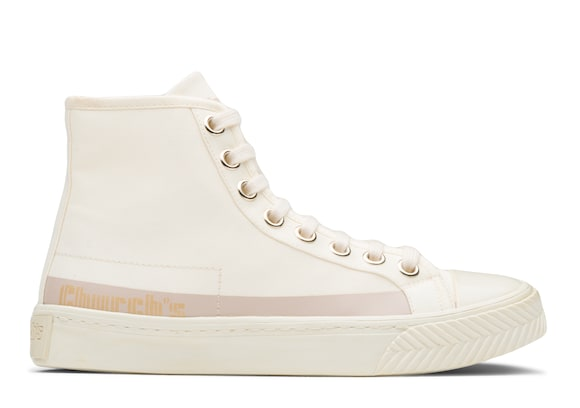 Church's  Gabardine HI-Top Sneaker Ivory blush