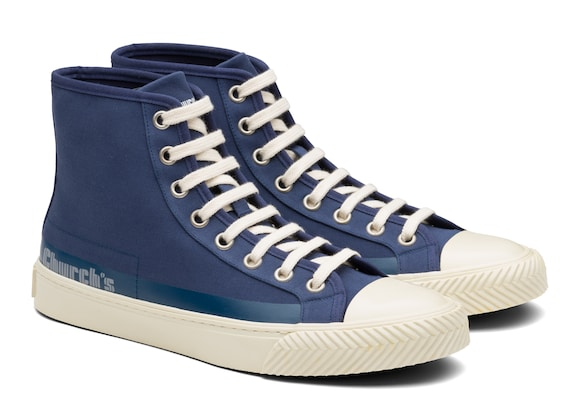 Church's true Gabardine HI-Top Sneaker Blue
