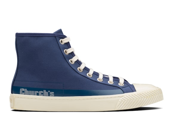 Church's  Gabardine HI-Top Sneaker Blue