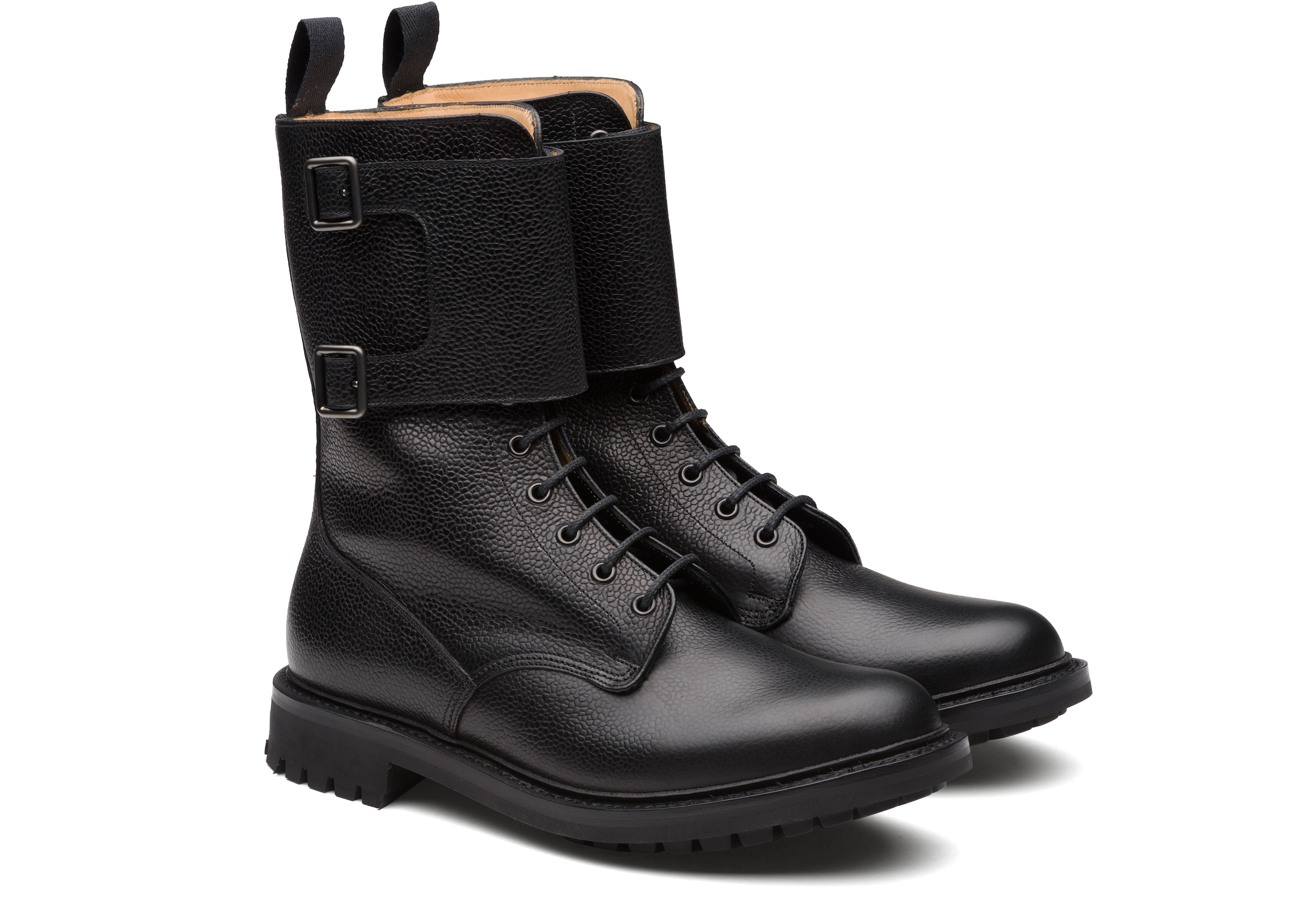 Mc kay Church's Lace up and Monk Boot Black