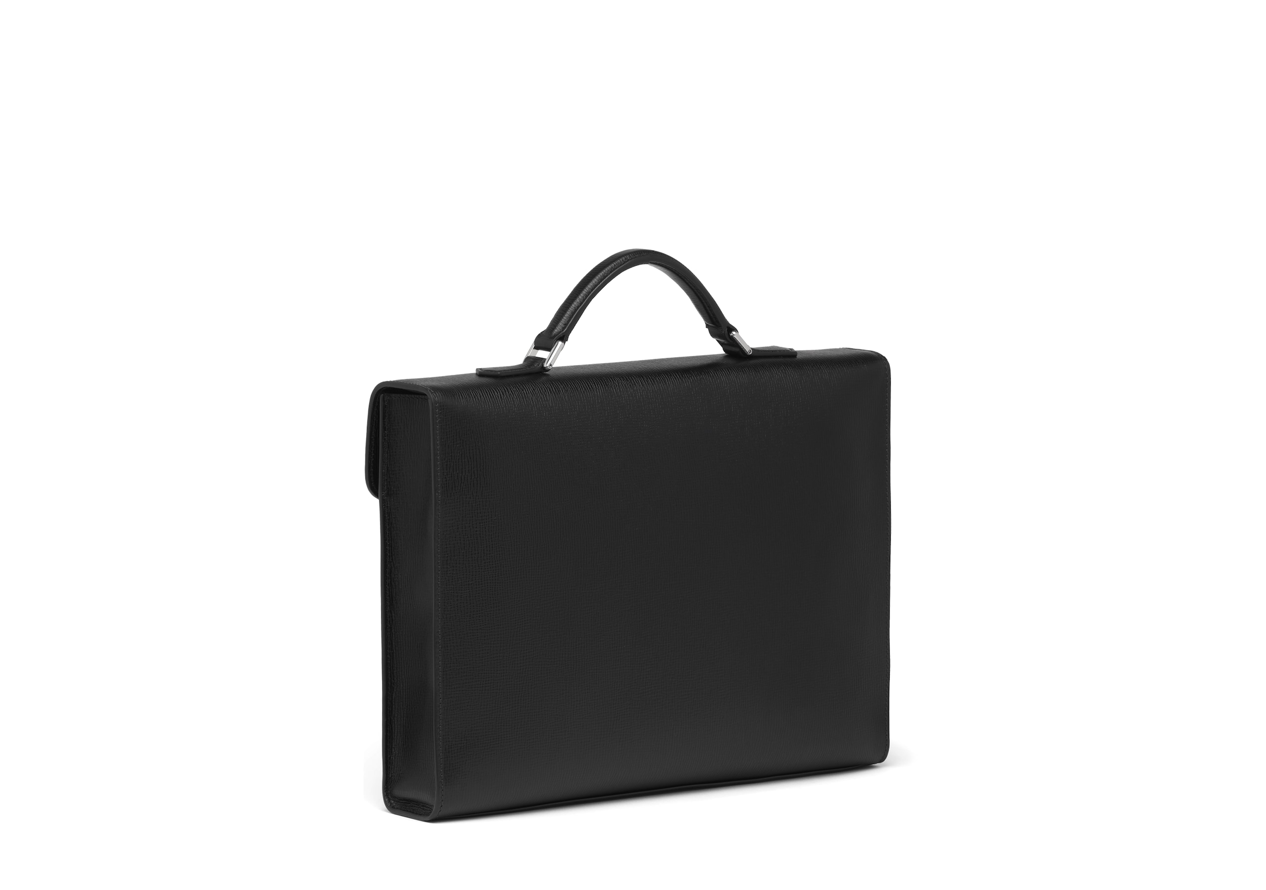 Warwick Church's St James Leather Briefcase Black