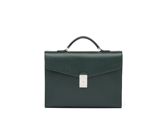 Church's Warwick St James Leather Briefcase Emerald