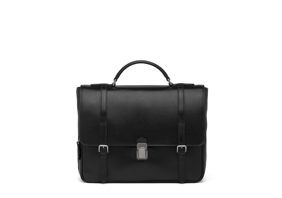 Church's true St James Leather Satchel Black