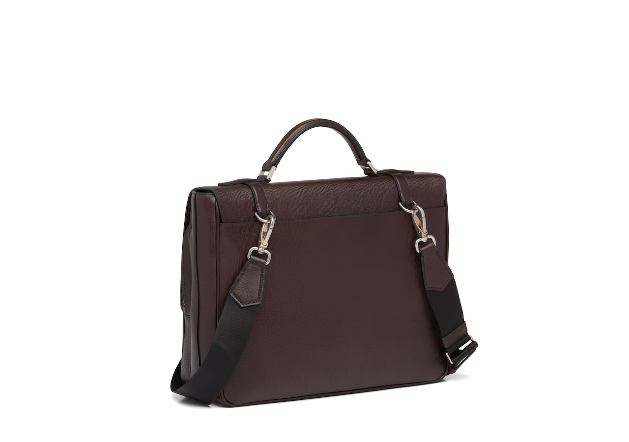 Buckingham Church's St James Leather Satchel Brown