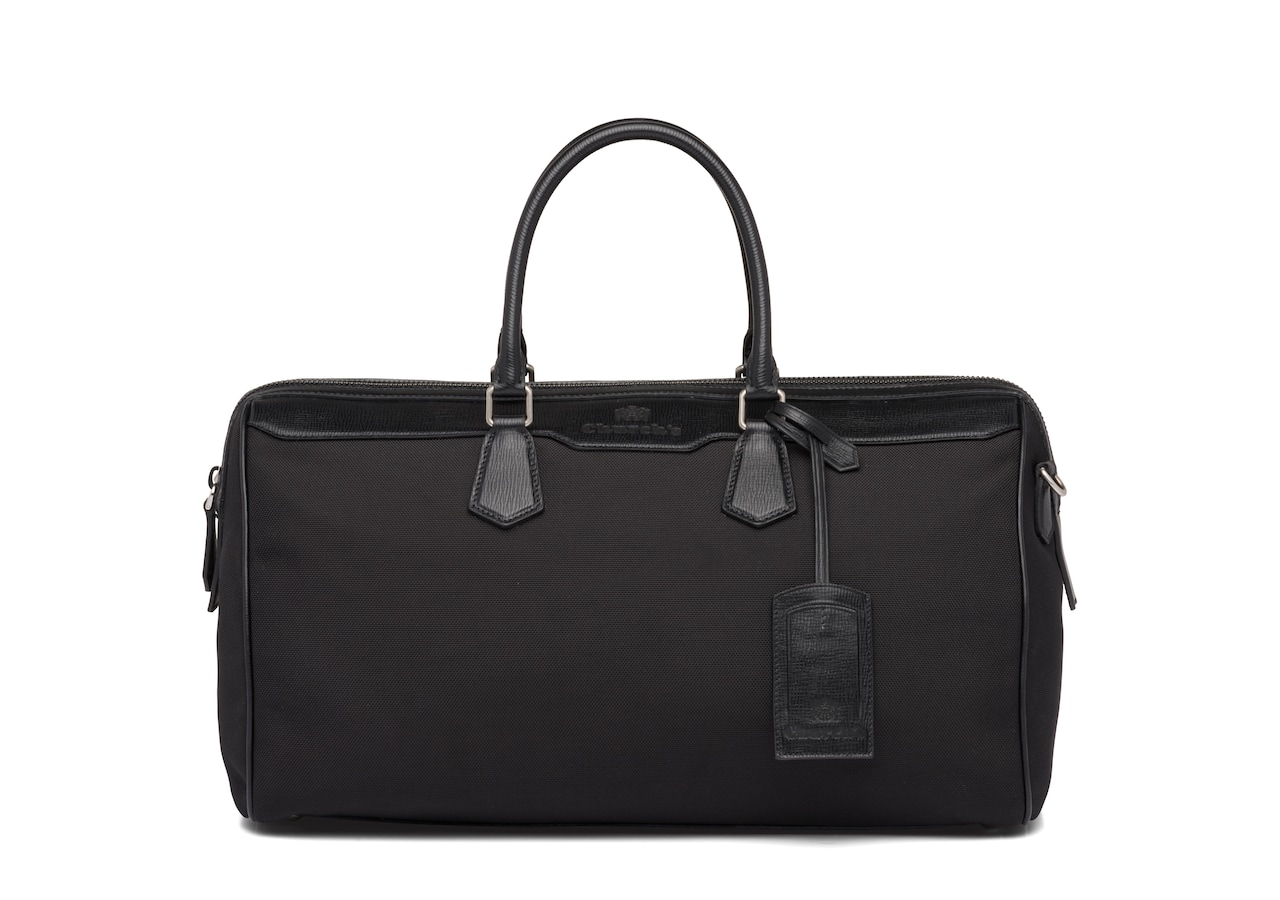 Radnor Church's St James Leather Tech Weekend Bag Black