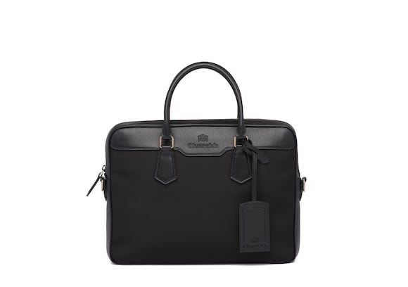 Church's Craven St James Leather Tech Laptop Bag Black