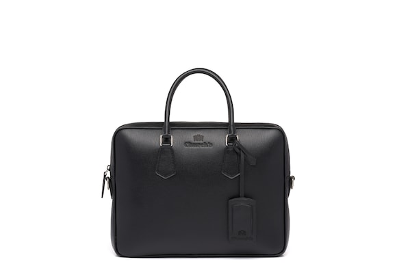 Church's Craven Sac pour ordinateur portable en cuir St. James Noir