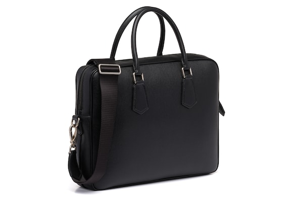Church's true St James Leather Laptop Bag Black