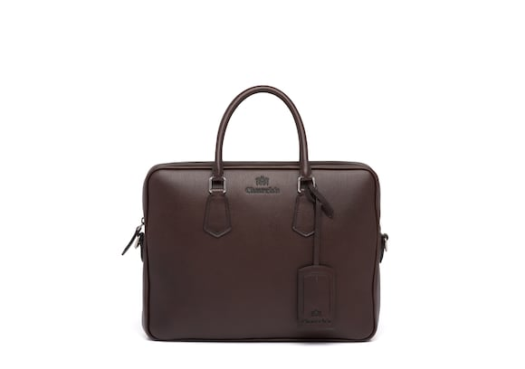 Church's Craven St James Leather Laptop Bag Coffee