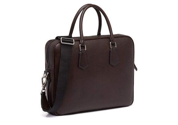 Church's true St James Leather Laptop Bag Coffee