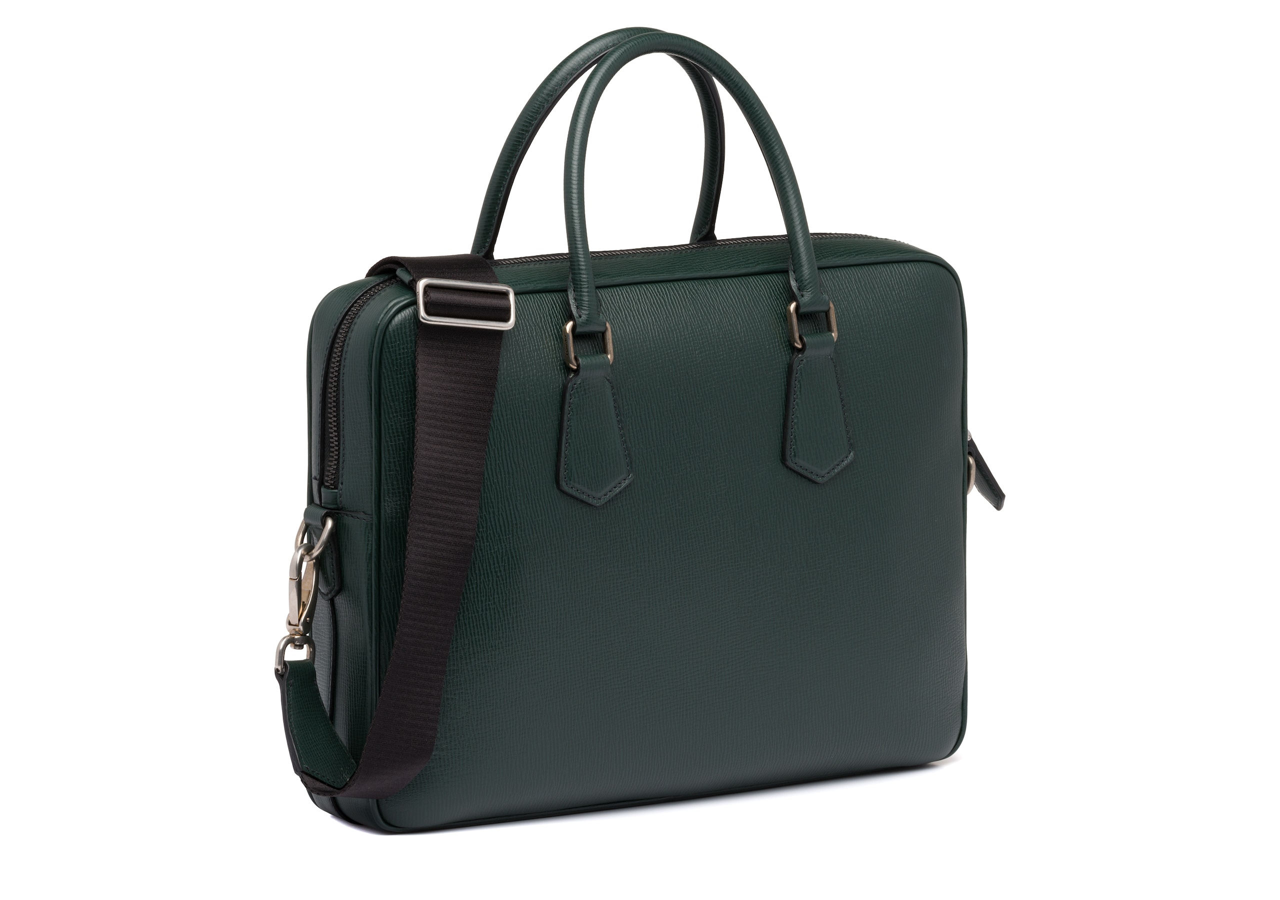 Craven Church's St James Leather Laptop Bag Green
