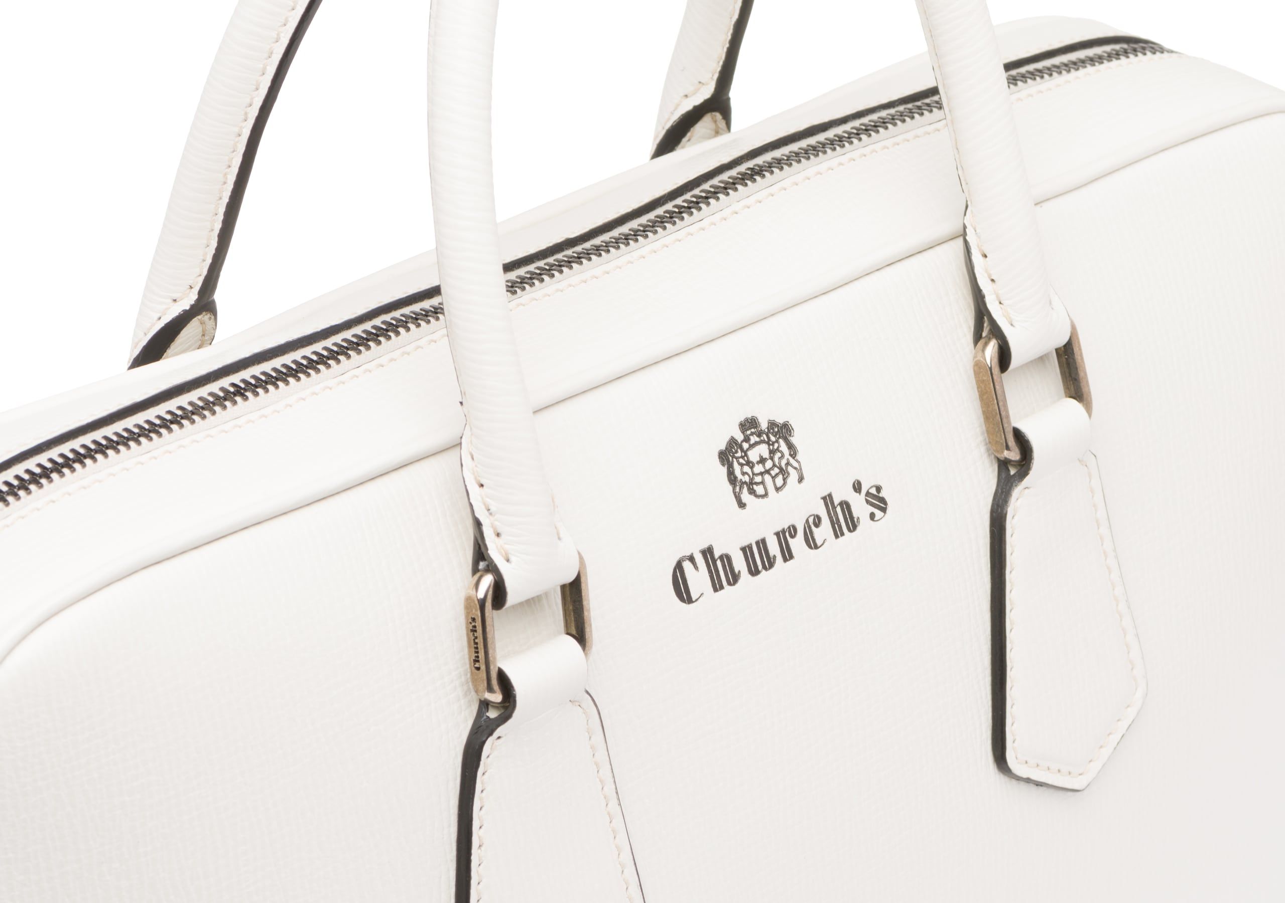 Craven Church's Borsa per laptop in pelle St. James Neutro
