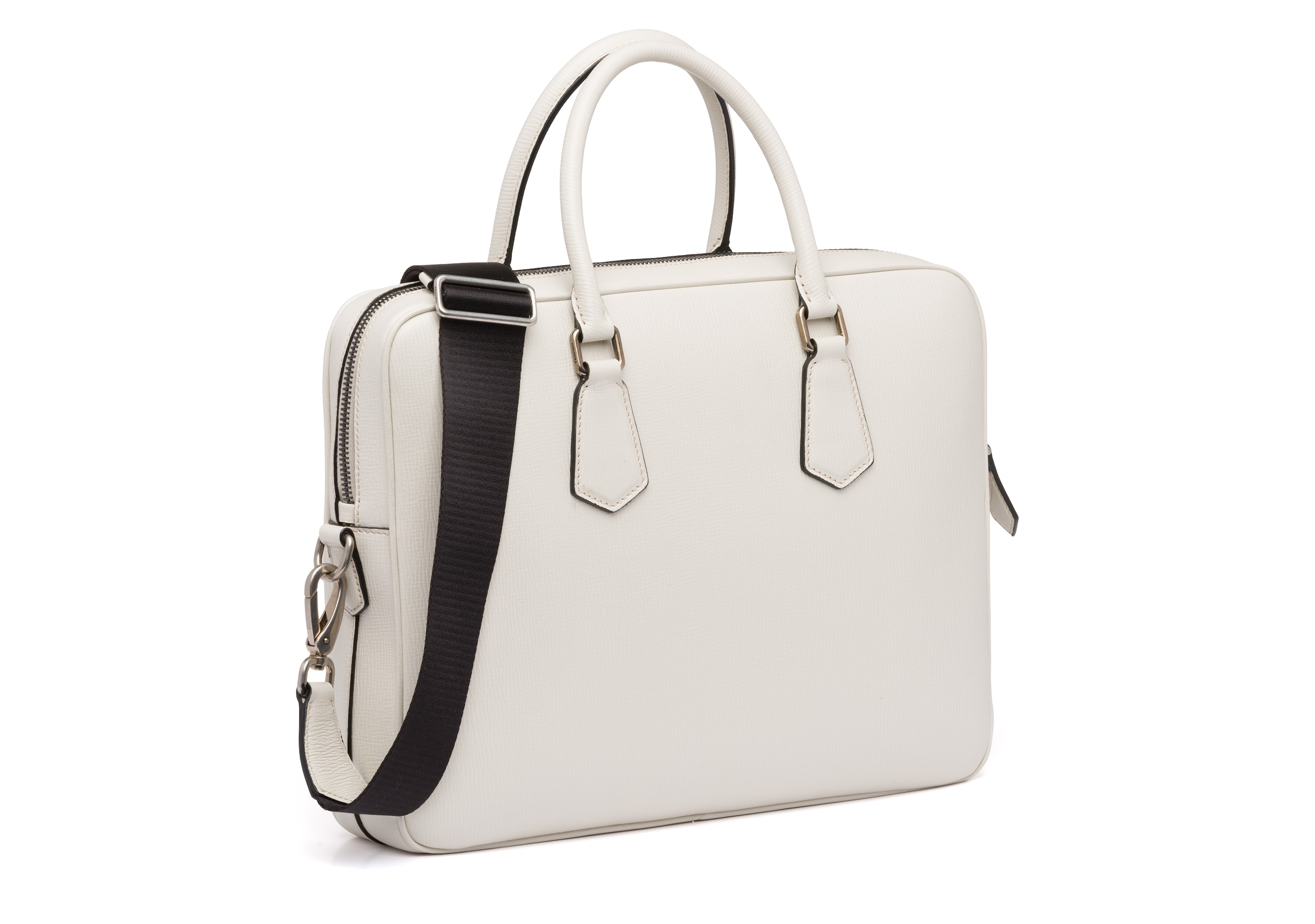 Craven Church's St James Leather Laptop Bag Neutral