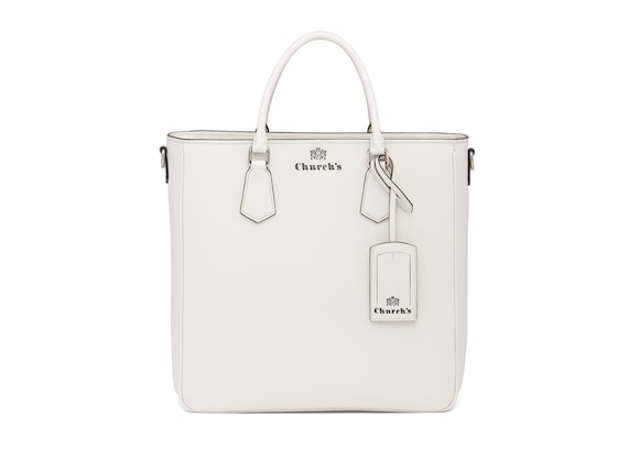 Church's true St James Leather Tote Bag Chalk white